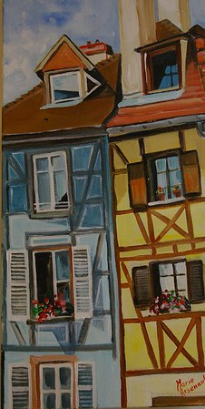 "Street in France  8""x12"""