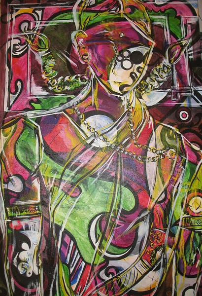 SOLD- Child Married ink and acrylic on canvas 7 - Nida Hussain