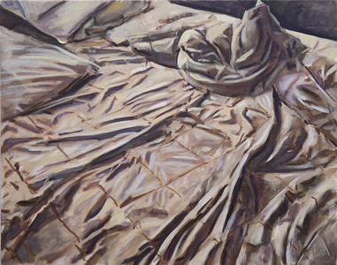 Bedding 1; oil on canvas, 22 x 28 in, 2016