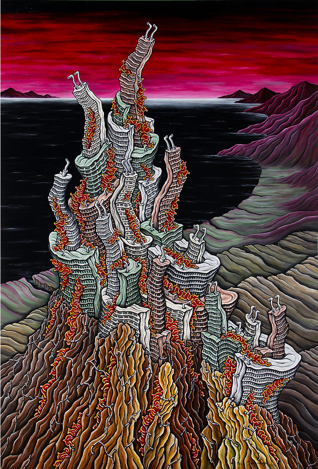 Untitled-C8 (2011) 103 x 70 inches, acrylic on canvas<br /> Collection of Jordan Schnitzer Museum of Art, Oregon
