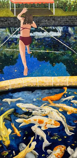 Carp, Reflecting Pools, Diver