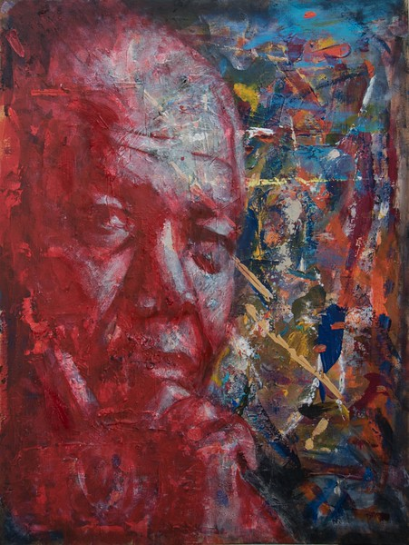 Mandela Amidst the Chaos  20 x 24 in
