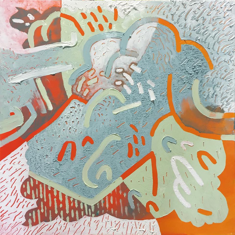 """""""Sprinkles"""" - Oil on panel - 12 x 12 in - 2015"""