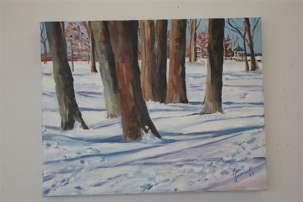 Winter in Britannia Park  SOLD