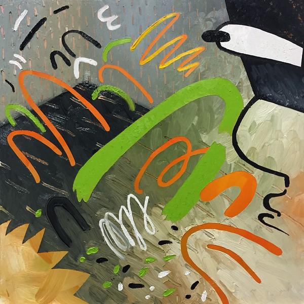 """Wet Paynt"" - Oil on panel - 12 x 12 in - 2015"