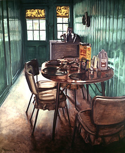 Green room, oil on canvas, 60 x 72 in, 1989