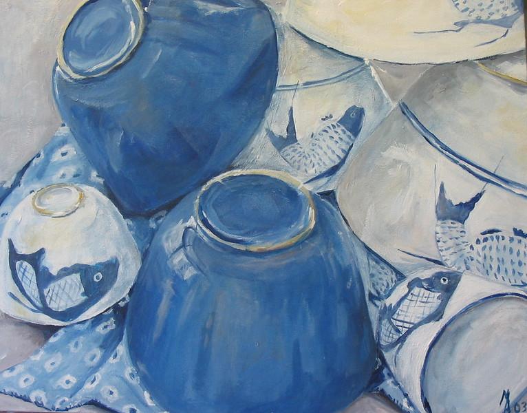 Blue bowls SOLD