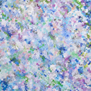 """Early Flowers"" 40"" x 40"" oil and acrylic on canvas painting by: Elizabeth Christopher © 2012"