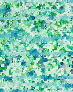"""Blue Meadow"" 16"" x 20"" oil and acrylic on canvas panel painting by: Elizabeth Christopher © 2012"