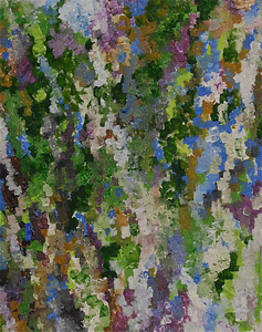 """Verdant Memories"" 16"" x 20""  acrylic on canvas painting by: Elizabeth Christopher ©2011"