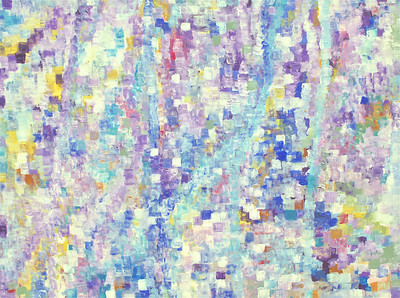 """Breeze Through Love's Window"" 30"" x 40"" x 1.5"" acrylic on canvas painting by: Elizabeth Christopher ©2013 PRIVATE COLLECTION"