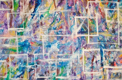 """Life Windows"" 48"" x 72"" x 1.5"" acrylic on canvas painting by: Elizabeth Christopher ©2014"