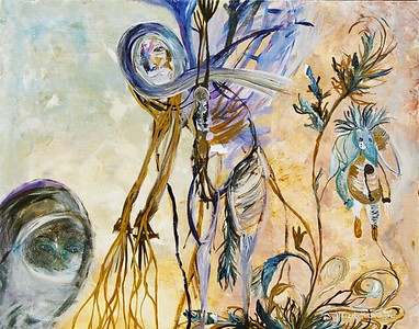"""Soul Struggle""  painting by: Elizabeth Christopher © 2006 acrylic on canvas board 22"" x 28"""
