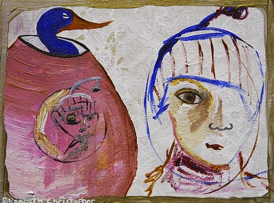 """""""The Accepted Face""""  painting by: Elizabeth Christopher © 2005 acrylic on canvas board 9"""" x 12"""""""
