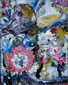 """Spirit Garden""  © Elizabeth Christopher 2005 acrylic on canvas board 10"" x 8"""