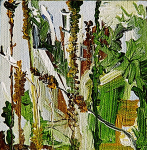 """Garden Spine""  © Elizabeth Christopher 2005 acrylic on canvas 5"" x 5"""