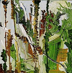 """Garden Spine""  © Elizabeth Christopher 2005 acrylic on canvas 5"" x 5"""