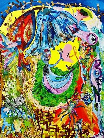 """""""Rebirth #1""""  © Elizabeth Christopher 2005 acrylic on canvas 40"""" x 30"""""""