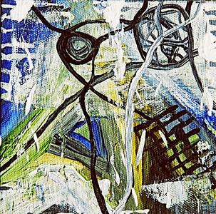 """Reaching through the Storm""  © Elizabeth Christopher 2005 acrylic on canvas 5"" x 5"""