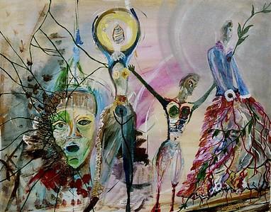 """Breakthrough""  painting by: Elizabeth Christoper © 2006 acrylic on canvas board 22"" x 28"""