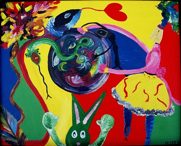 """Nurture""  © Elizabeth Christopher 2003 acrylic on canvas 25"" x 31"""