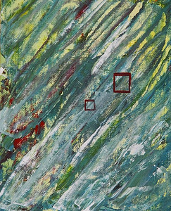 """Soulmates #1""  © Elizabeth Christopher 2005 acrylic on canvas board 10"" x 8"""