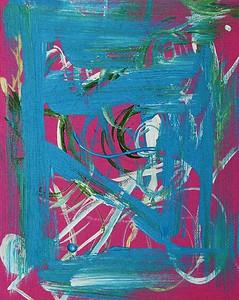 """""""Blue Window""""  © Elizabeth Christopher 2005 acrylic on canvas board 10"""" x 8"""""""