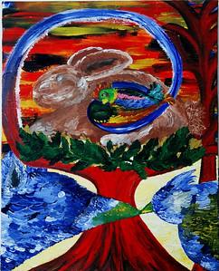 """Transformation""  © Elizabeth Christopher 2002 acrylic on canvas 20"" x15"""