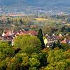 Vista Aérea de Região na Alsácia