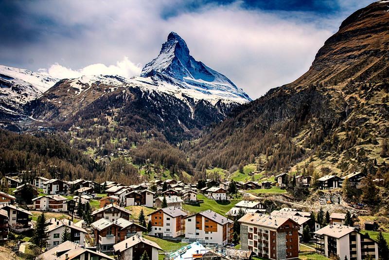 Vista Geral de Zermatt