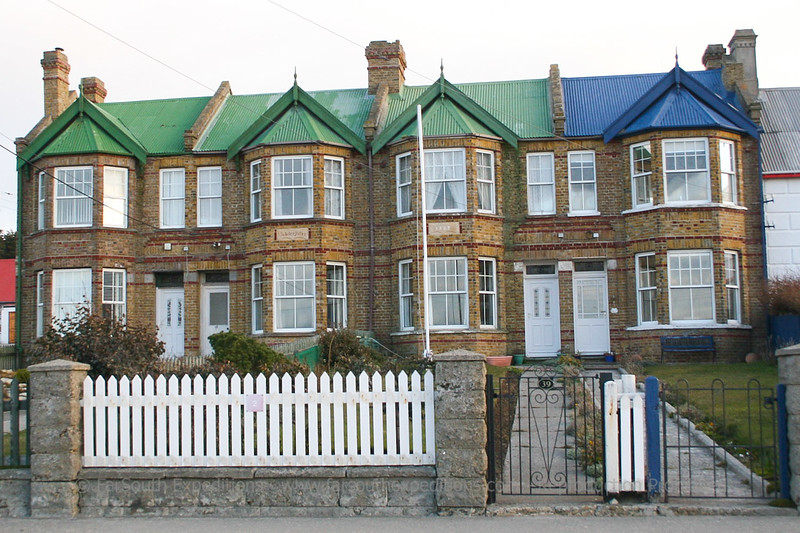 Houses at Port Stanley, Falkland Islands / Islas Malvinas
