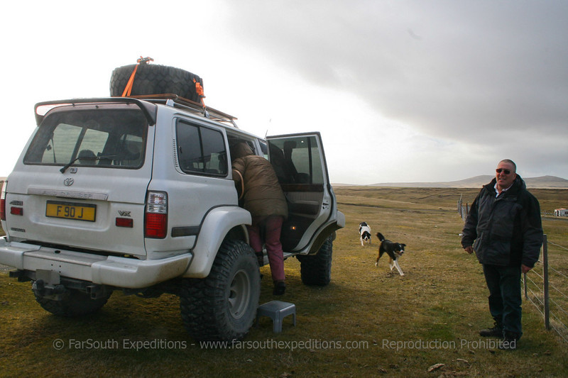 Our transportation in Saunders Island, Falkland Islands / Islas Malvinas