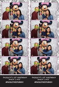 Paisley's 1st Birthday (Fusion Booth Photo Booth Strips)