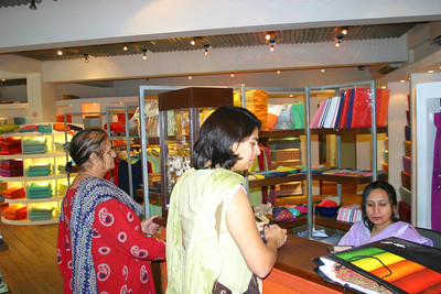 Saadia and Aunty Perveen in one of those islamabad boutiques