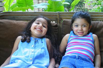 Shaman and Sonya's daughters, Jumana and Zeenat
