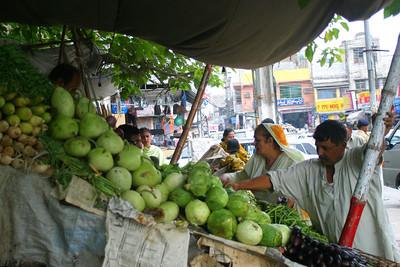 Aunty Perveen vegetable shopping