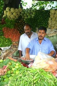 The vegetable stand
