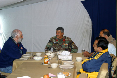 We were hosted by Gen. Qasim Qureshi, GOC 19 Div.  He was a friend of Uncle Joji.  Extremely impressive officer.  Stayed up till 11:30 pm taking calls from locals on earthquake relief in his uniform.  His staff was the same way.  The ops center is staffed 24 hours, and was full of people at 11 pm.