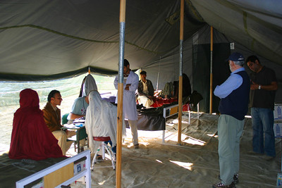 The main tent where the patients are examined.