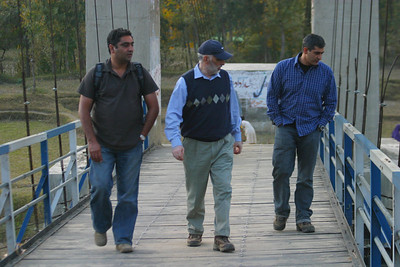 L to R.  My cousin, Shahid, my Uncle Joji, my cousin, Adil.  Adil has a frieght forwarding business and has been busy sending free truckloads of relief supplies up north.