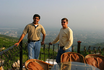 We drove further up into Margalla Hills and snacked at the restaurant at the top.  Adil would go paragliding from the hill on my right.