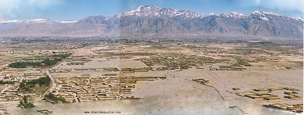 A view of Quetta from the Murree Brewry mountains - southwest of Quetta.