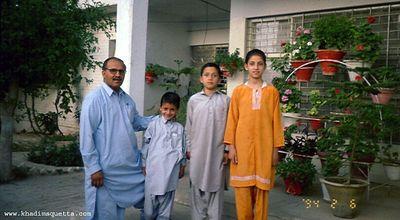 Dr. Tawab Gul Achakzai: a friend of mine and his children.