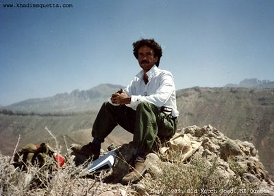 On the top while studying rocks! Kutch Road, near Quetta Balochistan. September 1989.