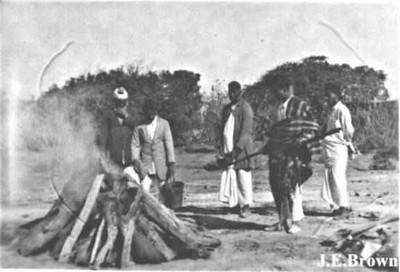 Cremation of Hindu victims of 1935 Quetta earthquake (Photo courtesy of J. E. Brown).