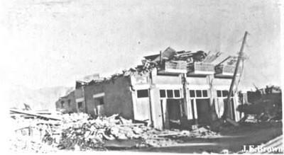 Destruction of a business centre.