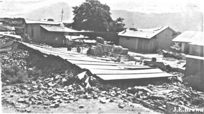 Damage at an unknown location.
