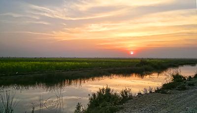 Sunset in Sindh