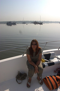The morning was very hazy and the water was completely calm