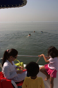Swimming starts.